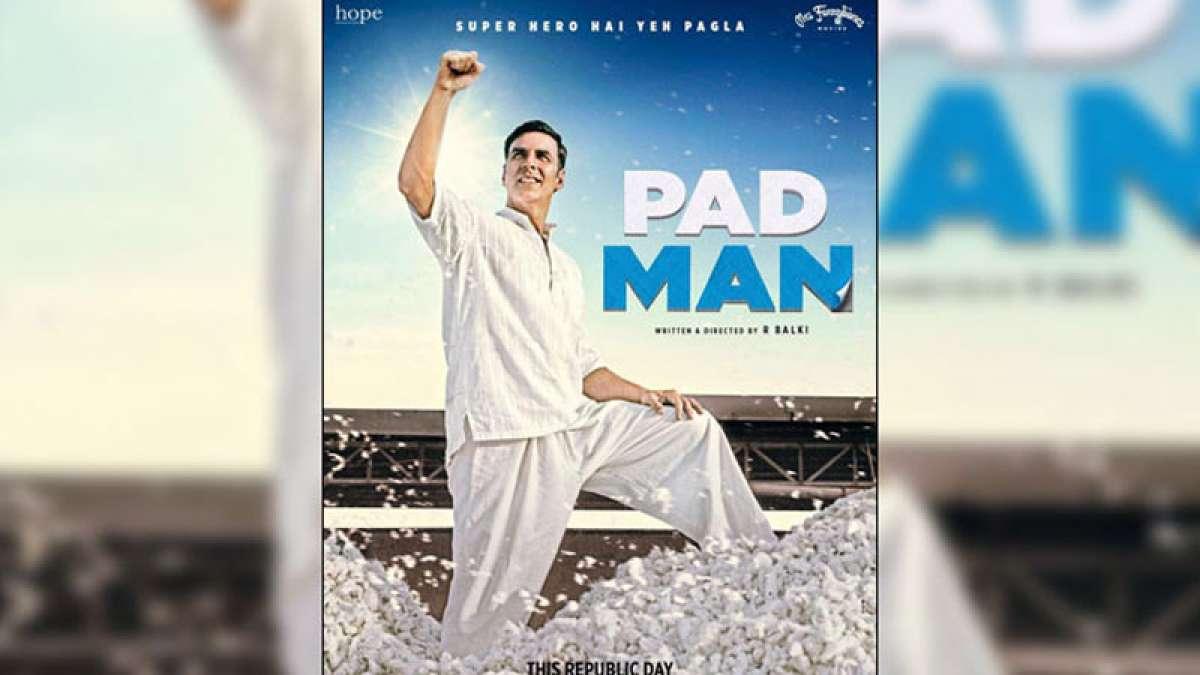 Akshay Kumar in Pad Man poster