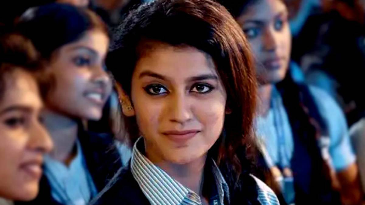 Actress Priya Prakash Varrier in a still from her upcoming movie
