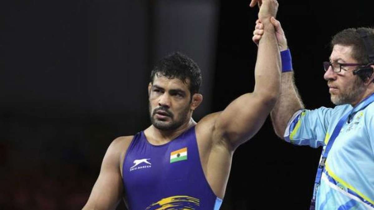 Wrestler Sushil wins gold in men 74 kg category