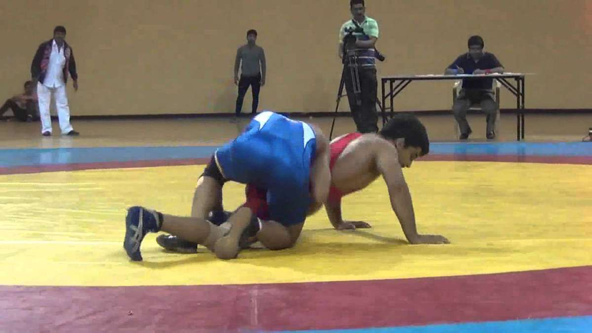 Rahul Balasaheb Aware wins gold in men's Freestyle 57kg wrestling final of CWG