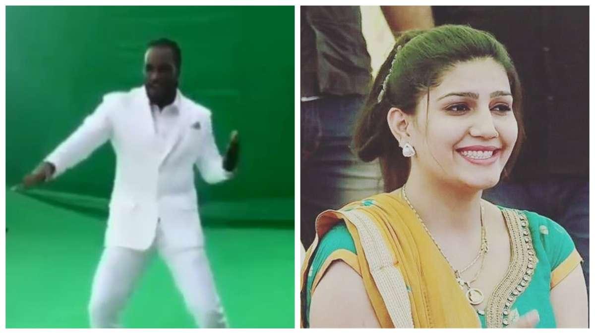 WATCH: Chris Gayle dancing on Sapna Choudhary's hit song 'Teri Aakhya Ka Yo Kajal'