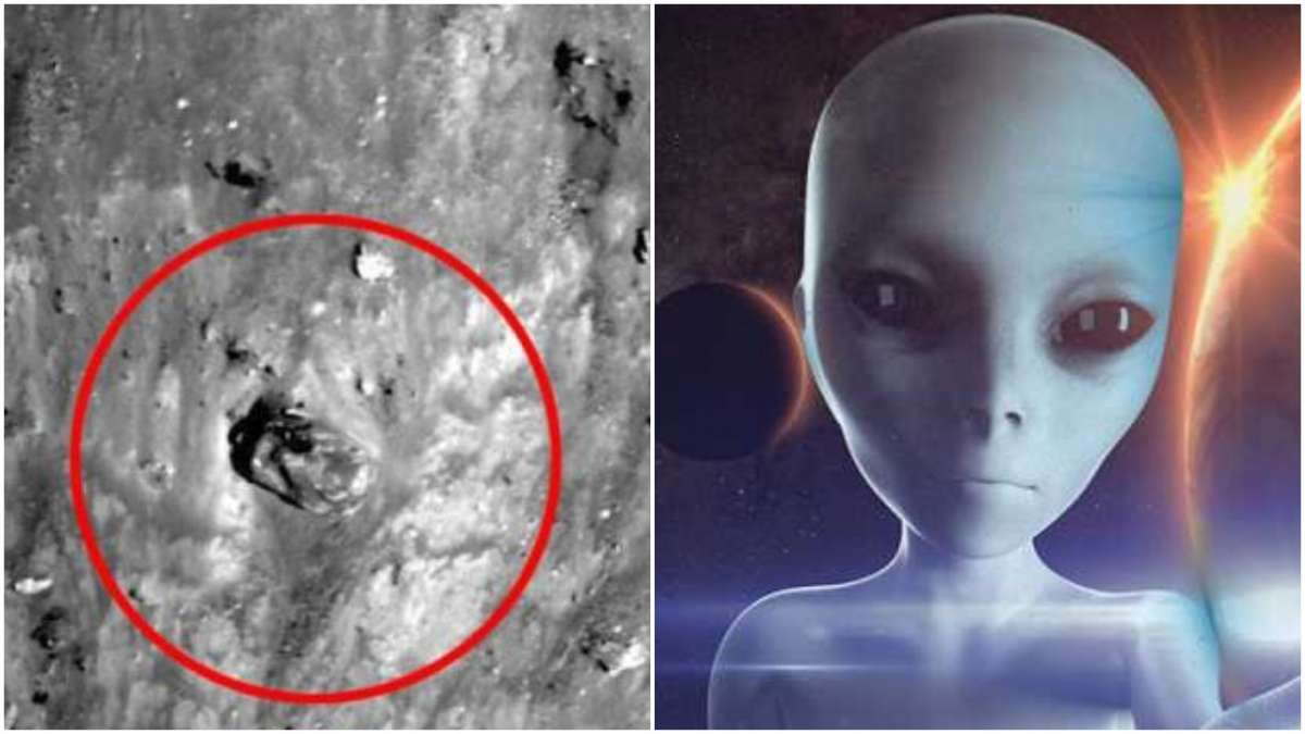 Watch the video which shows that an alien battle tank on the surface of the Moon