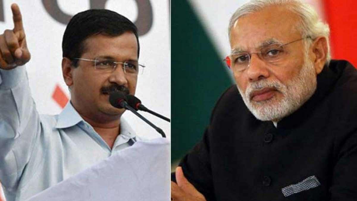 Arvind Kejriwal mocks PM Narendra Modi with a cartoon