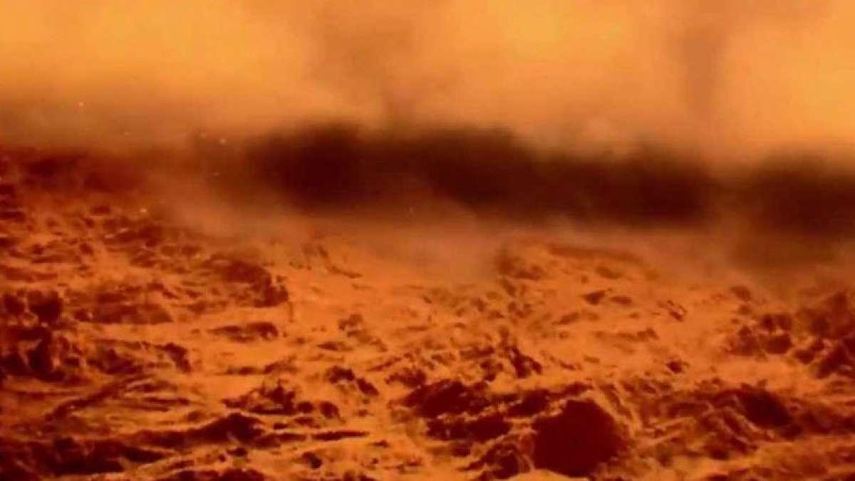 NASA's Curiosity rover captures images of Martian dust storm