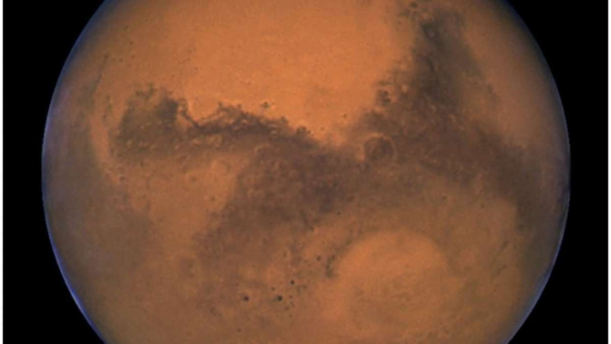 NASA's Hubble Space Telescope captured this photo of Mars 11 hours before the planet made its closest approach to Earth on August 26, 2003. REUTERS/J. Bell (Cornell U.) and M. Wolff (SSI)/NASA/Files