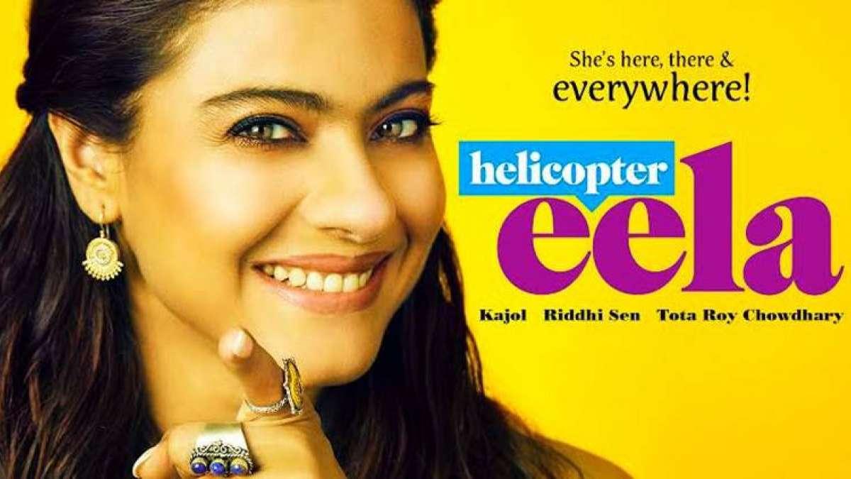 Bollywood Actress Kajol in Helicopter Eela