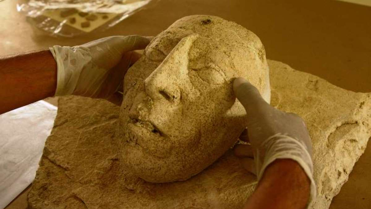 Ancient mask discovered in South Mexico