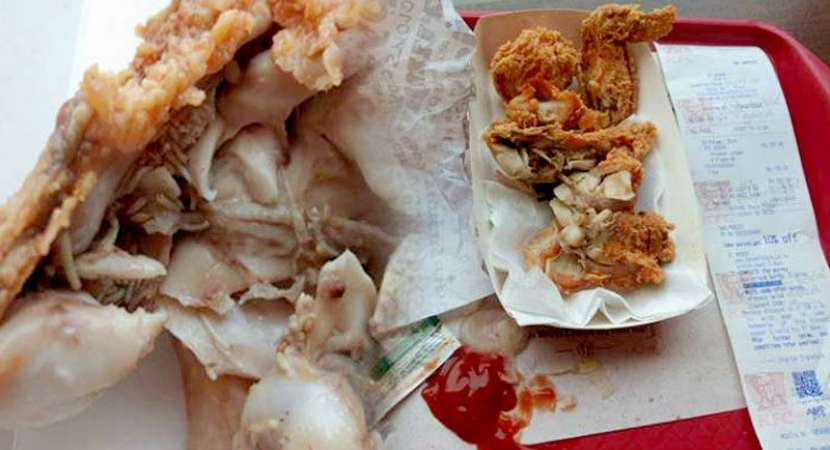 Trouble for KFC as Mumbai man claims live maggots in chicken wings