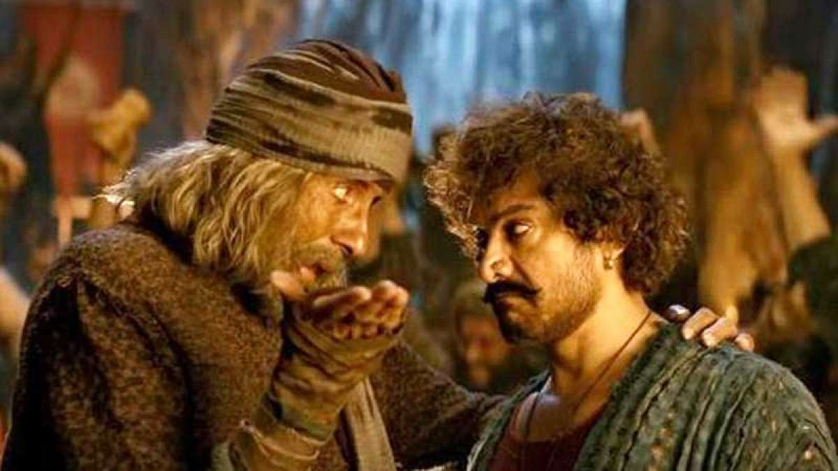Amitabh Bachchan and Aamir Khan in a still from Thugs of Hindostan