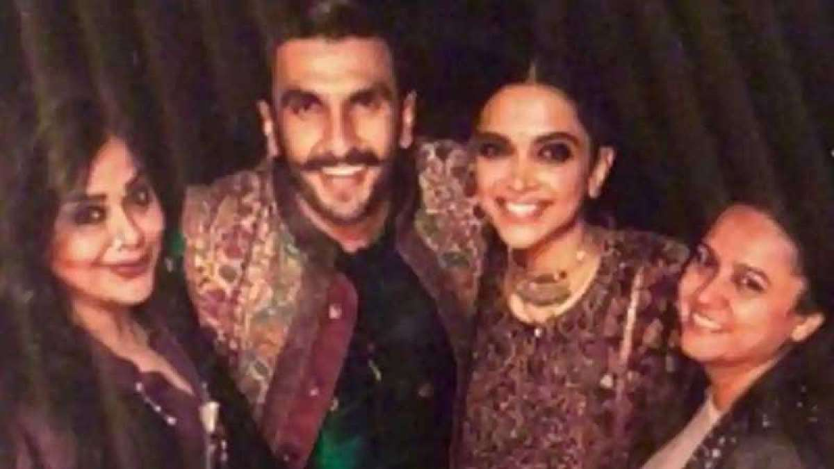 Deepika and Ranveer with their two friends during Chooda ceremony