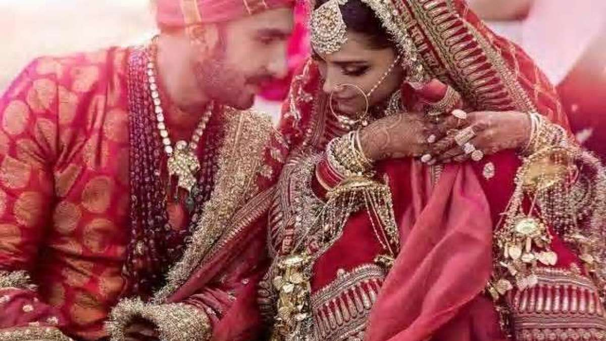 Wedding photo of Ranveer Singh and Deepika Padukone