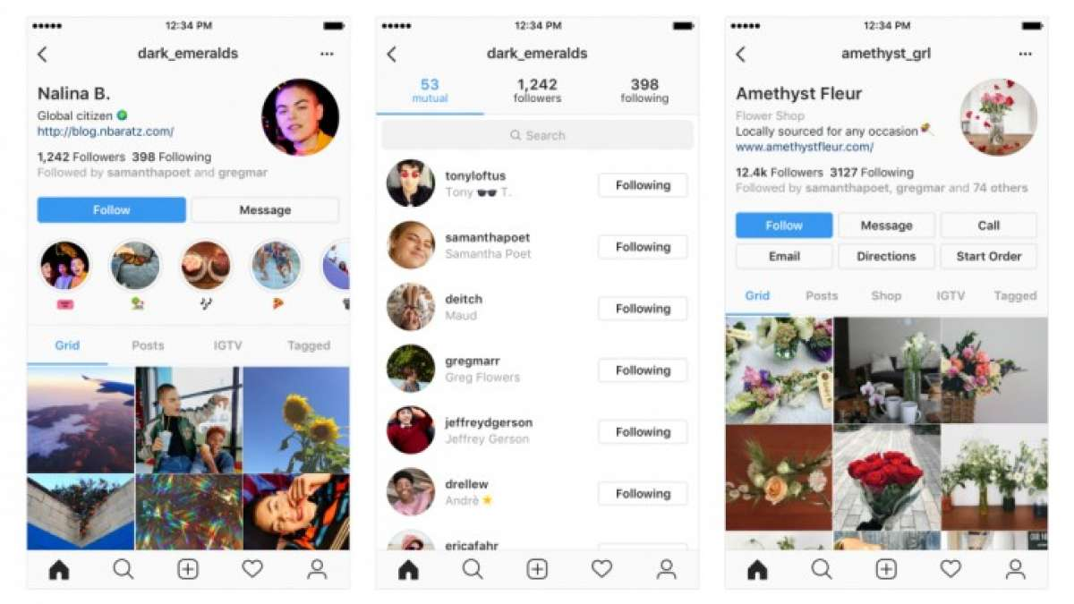 Instagram new interface for users