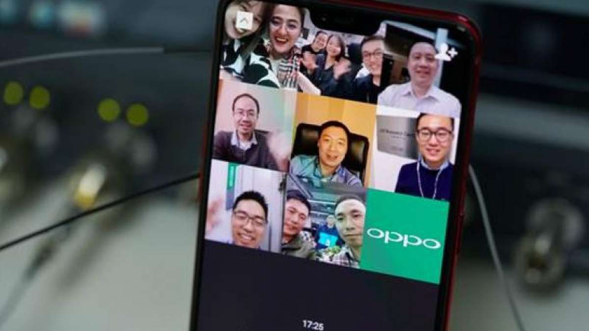 Engineers from six OPPO R&D institutes worldwide participated in the video calling