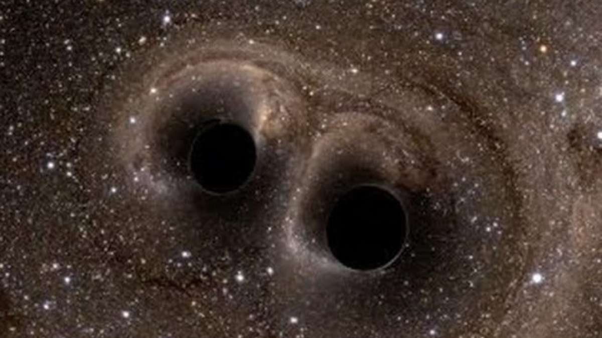 The gravitational waves from the collision are leading to the formation of a new, huge black hole 80 times larger than our sun