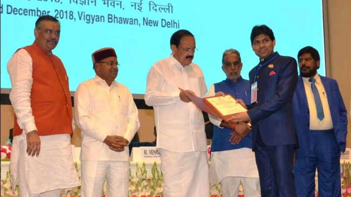 Dr. Yogesh Dube gets the Best Individual Award