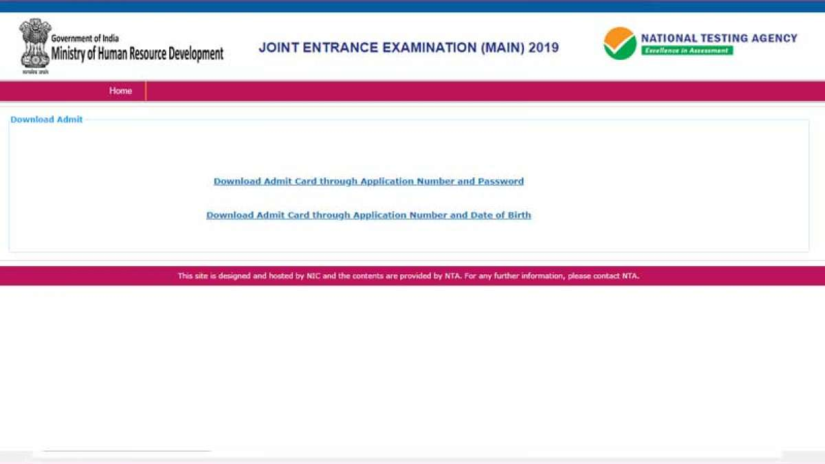 JEE Main Exam 2019 admit card released at jeemain.nic.in; Check how to Download It