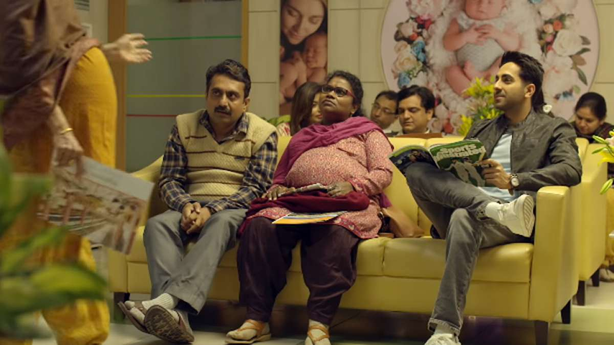 Still picture from the movie- Badhaai Ho