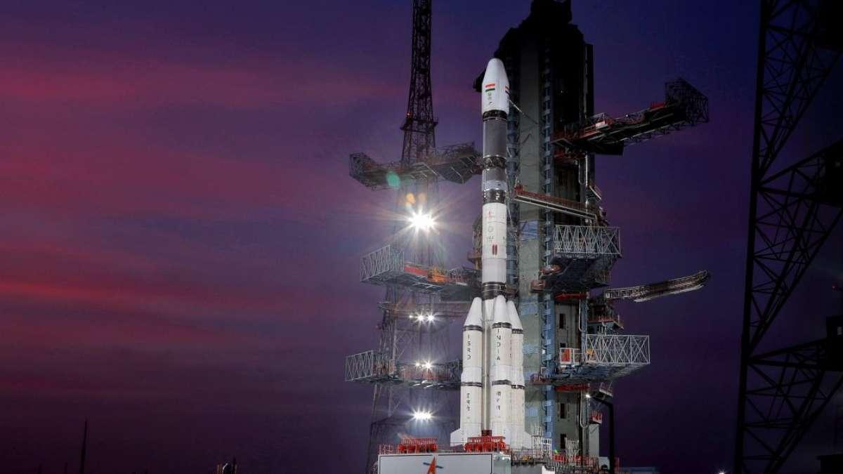 A GSLV Mk II rocket at the ISRO launchpad in Sriharikota. Photo credit: ISRO