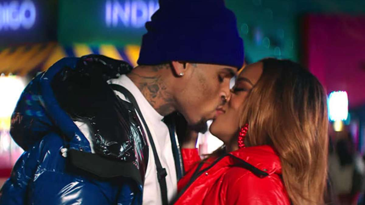 A still from Chris Brown's song - undecided