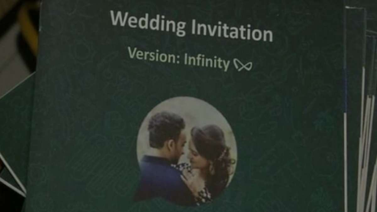 Check out! WhatsApp inspired wedding card
