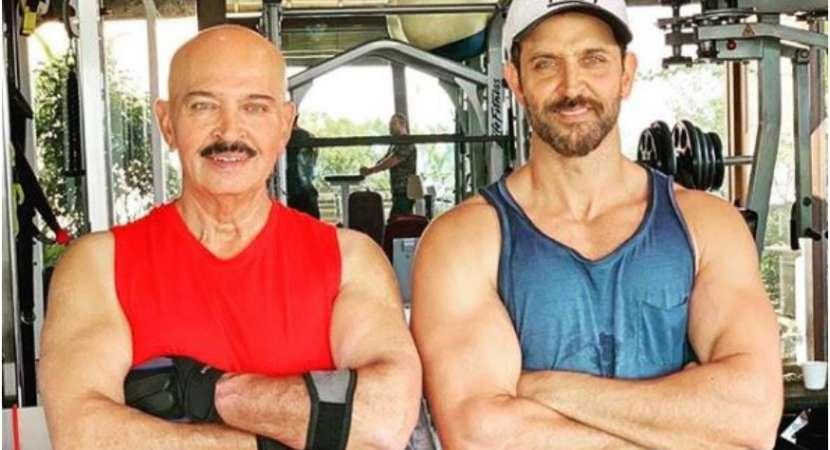 Hrithik Roshan shares a photo with father Rakesh Roshan