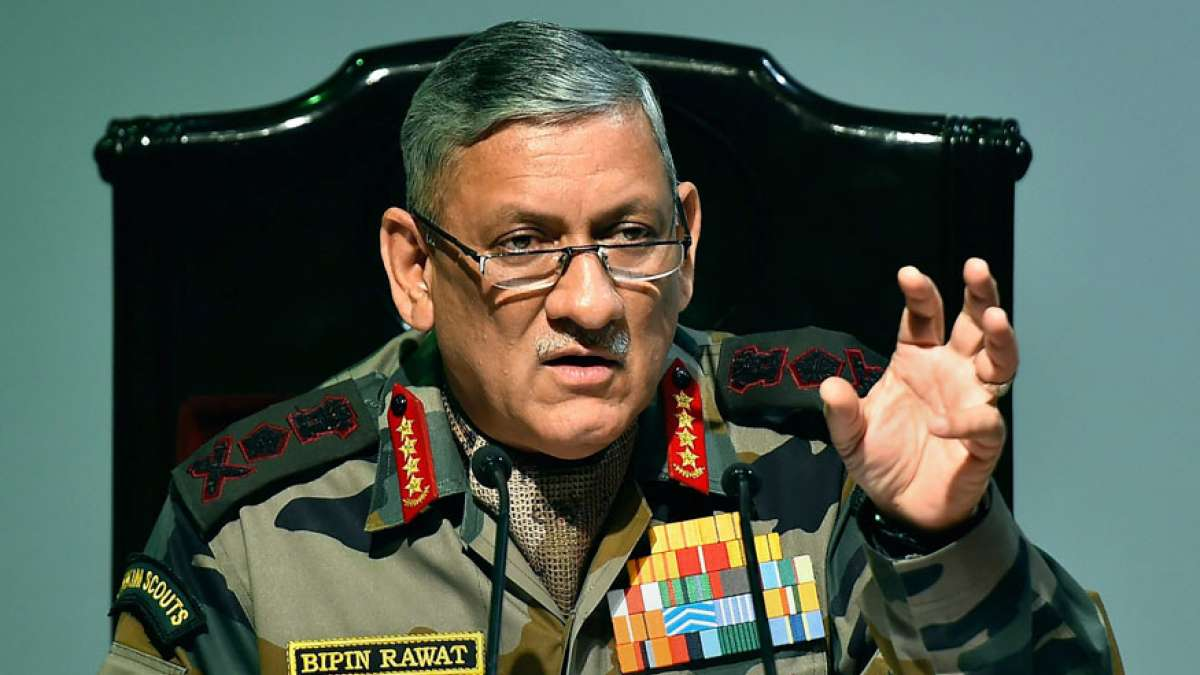 Photo of Army Chief Gen Bipin Rawat