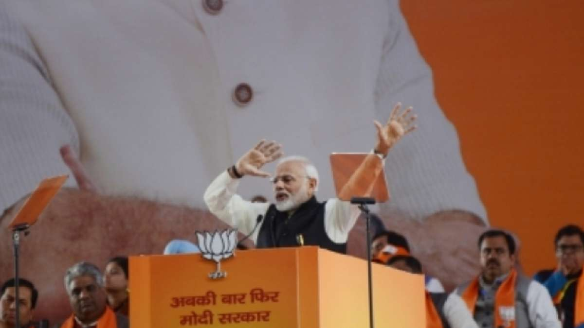 PM Narendra Modi makes strong pitch for his re-election