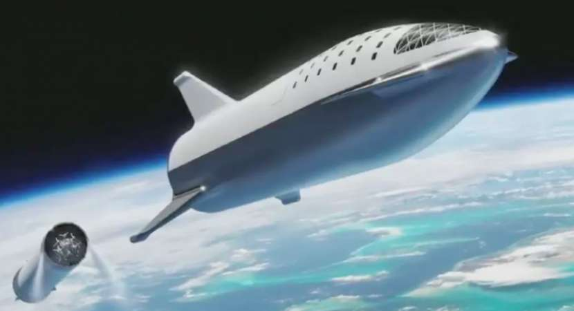 First Pictures: Elon Musk's starship for passengers to Moon and Mars