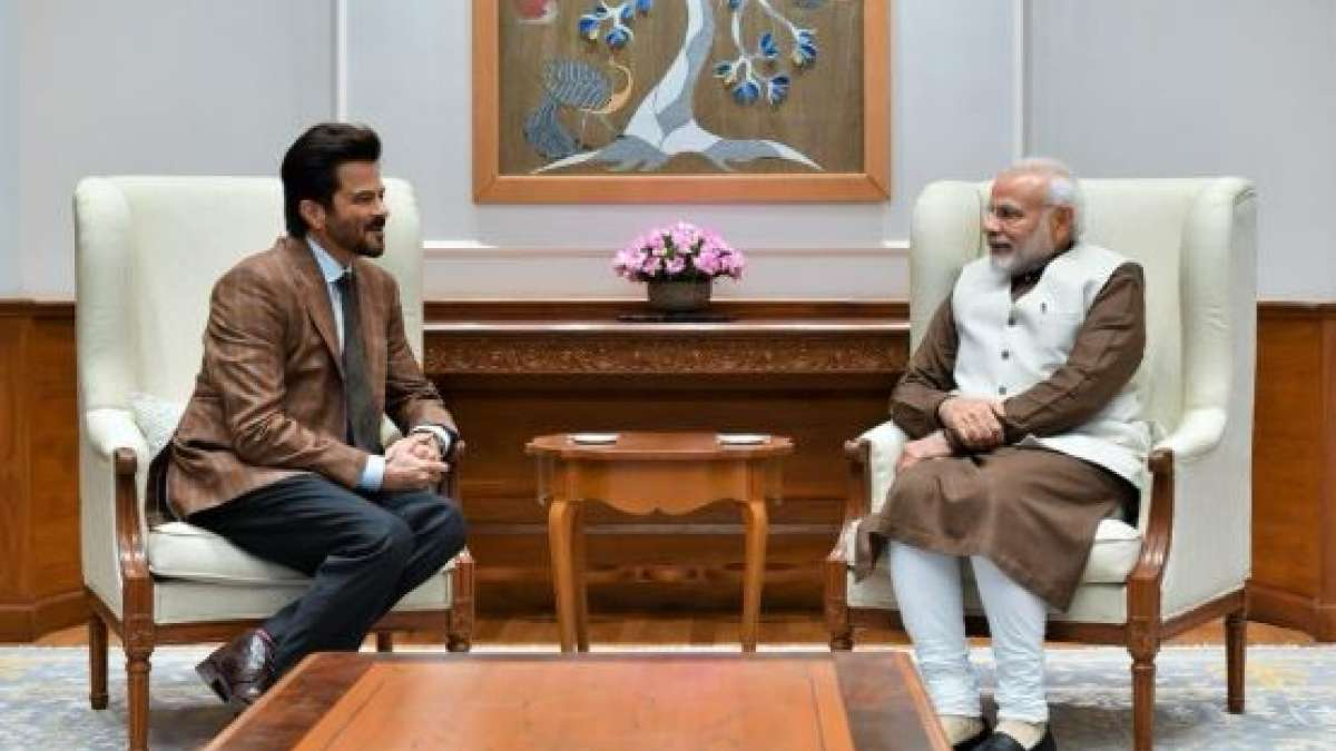 Actor Anil Kapoor meets PM Narendra Modi in Delhi