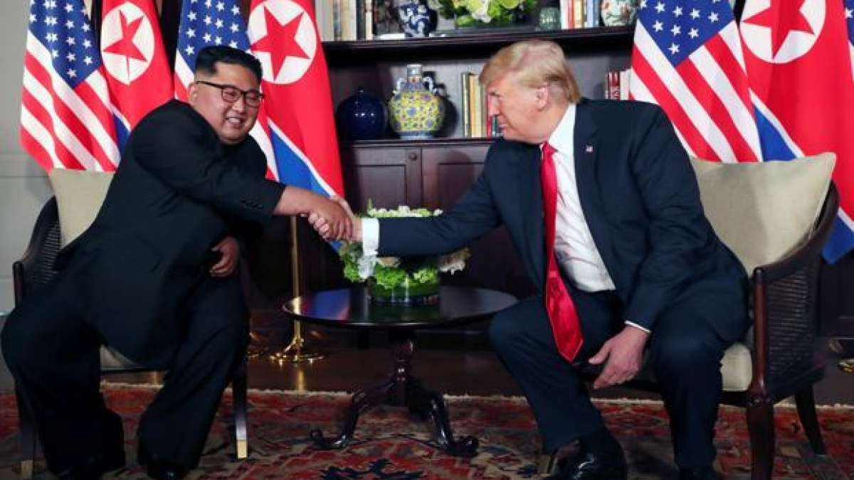 Donald Trump with Kim Jong-un during a summit
