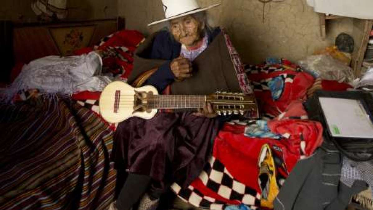 Nanu Shaove used to strums her traditional charango guitar and sung indigenous Quechua songs with ease.