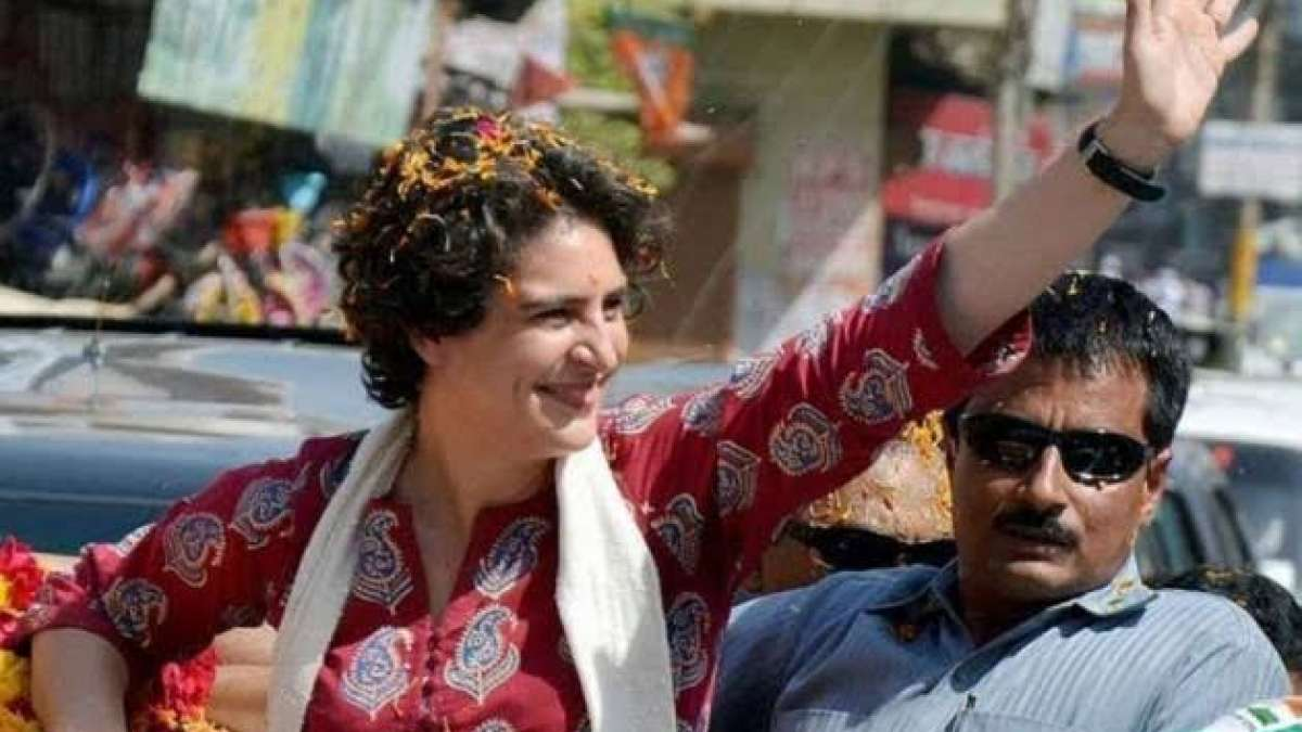 Priyanka Gandhi Vadra at a rally