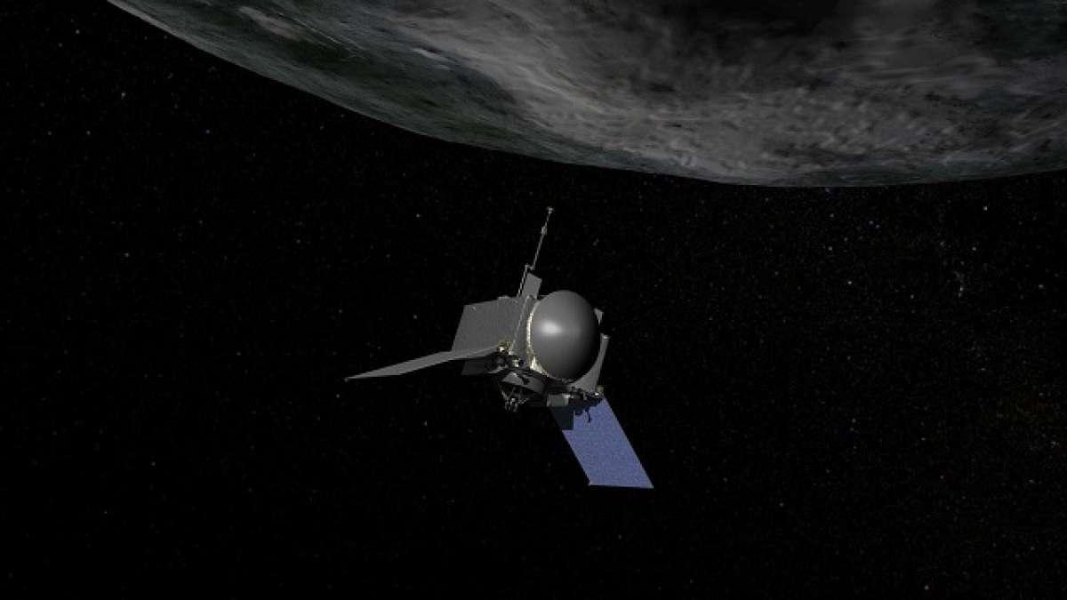NASAs asteroid sampling probe snaps picture of asteroid Bennu