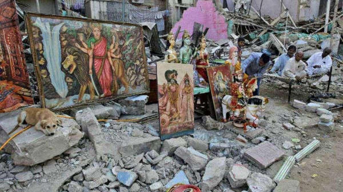 Hindu temple vandalised in Pakistan, holy books, idols burnt