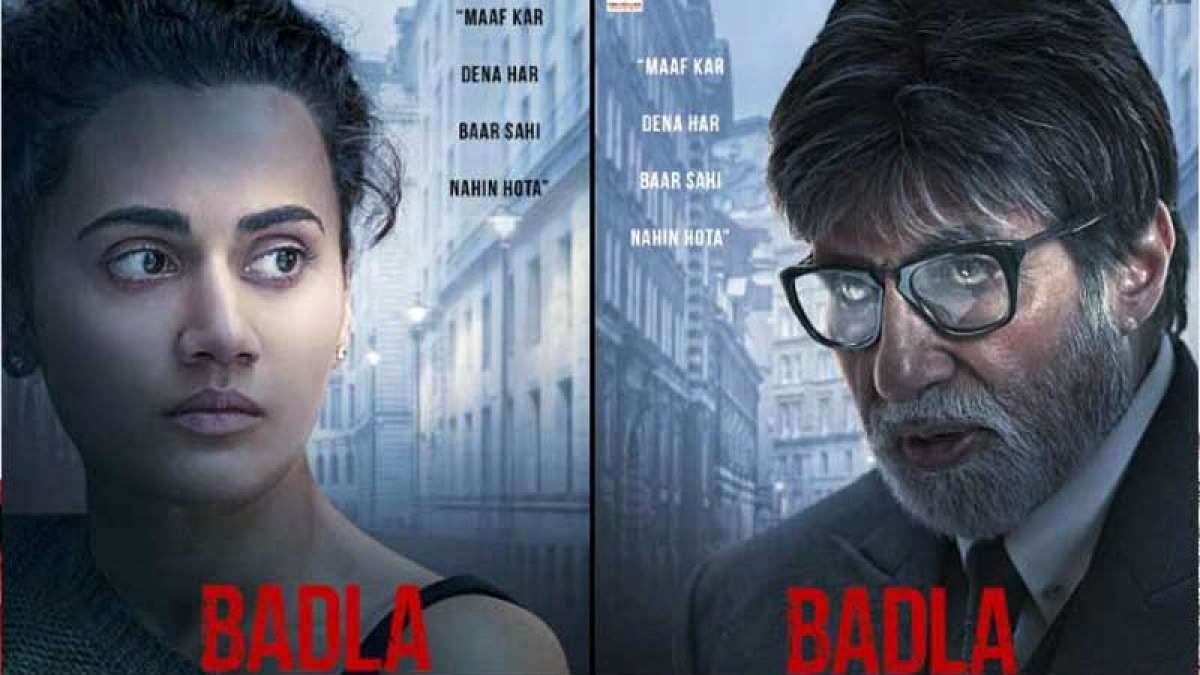 Badla Poster: Meet Big B, Taapsee Pannu from Sujoy Ghosh's movie