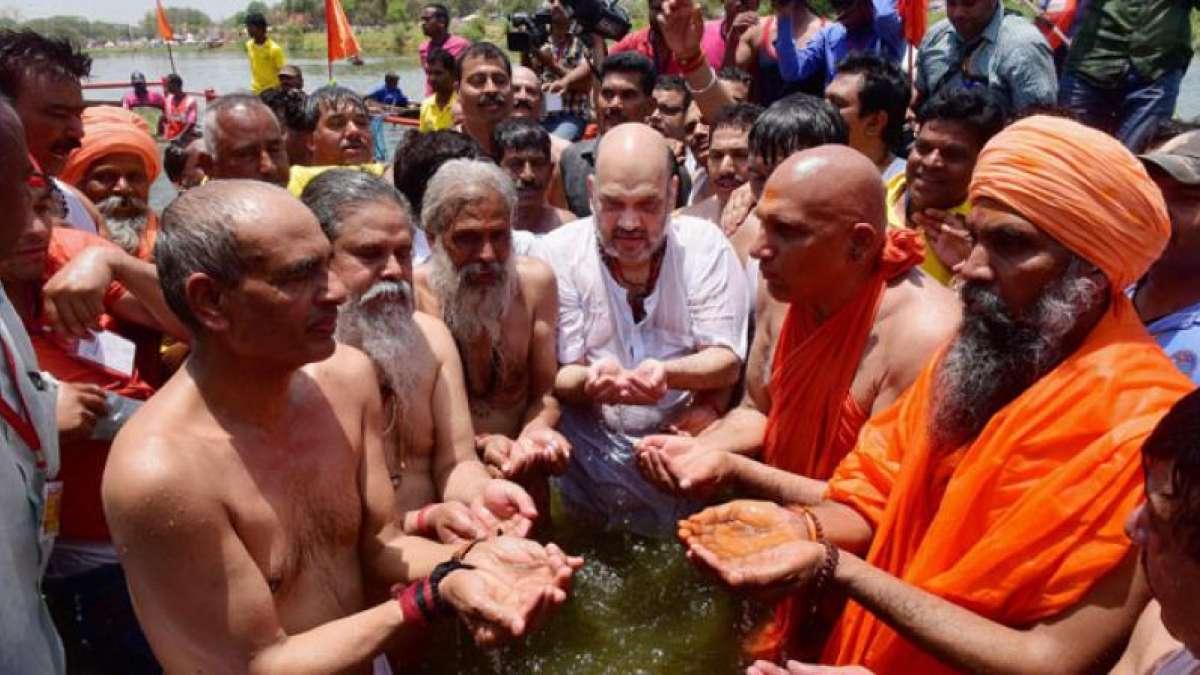 Amit Shah to take holy dip in Kumbh Mela today