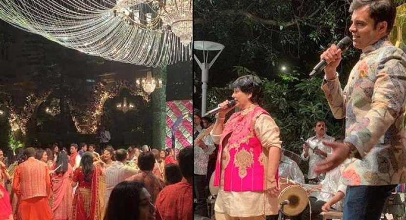 Falguni Pathak performs at Akash Ambani pre-wedding function