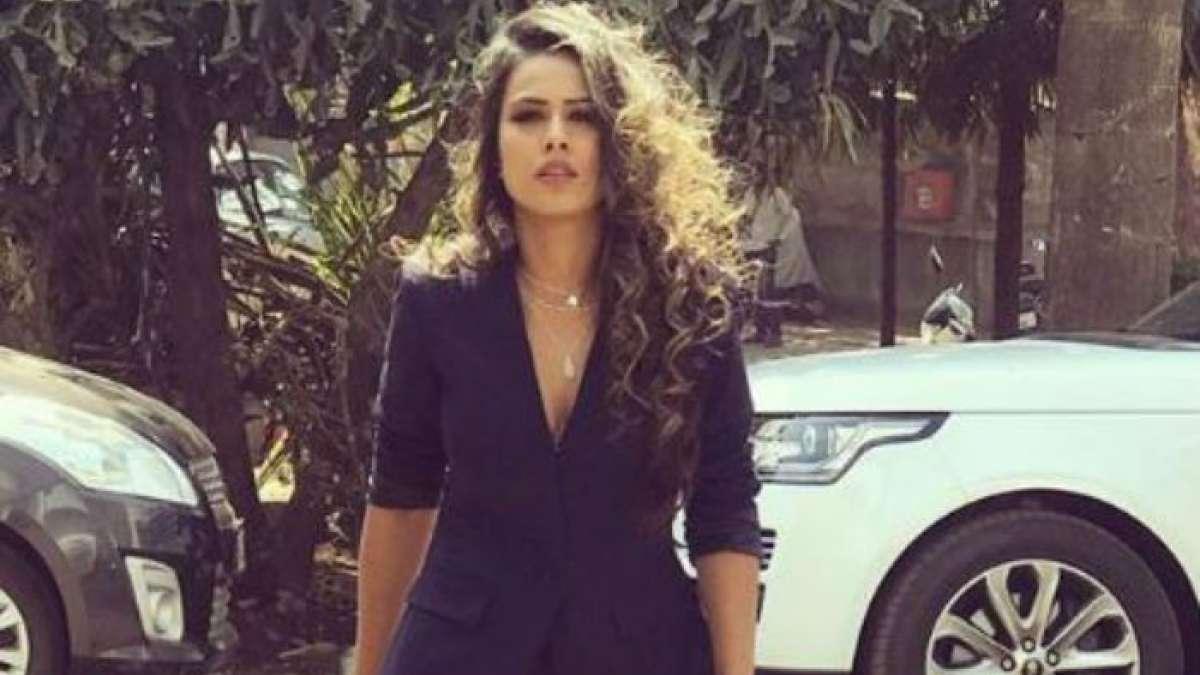 Like a boss! Nia Sharma rocks in blue suit look