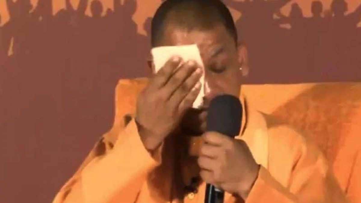 UP CM Yogi Adityanath breaks down as he talks about Pulwama attack