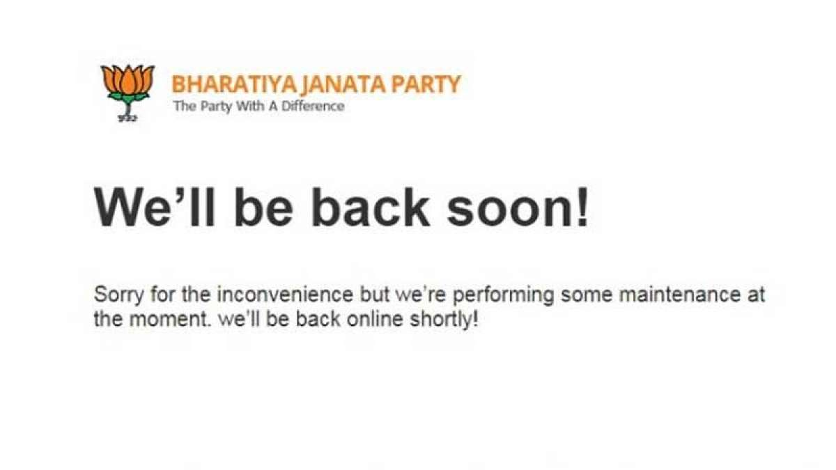 BJP official website home page message