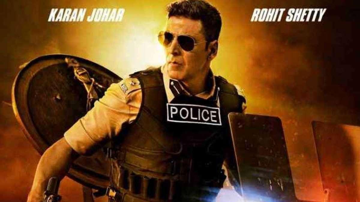 Akshay Kumar in a poster of Rohit Shetty's upcoming movie Sooryavanshi