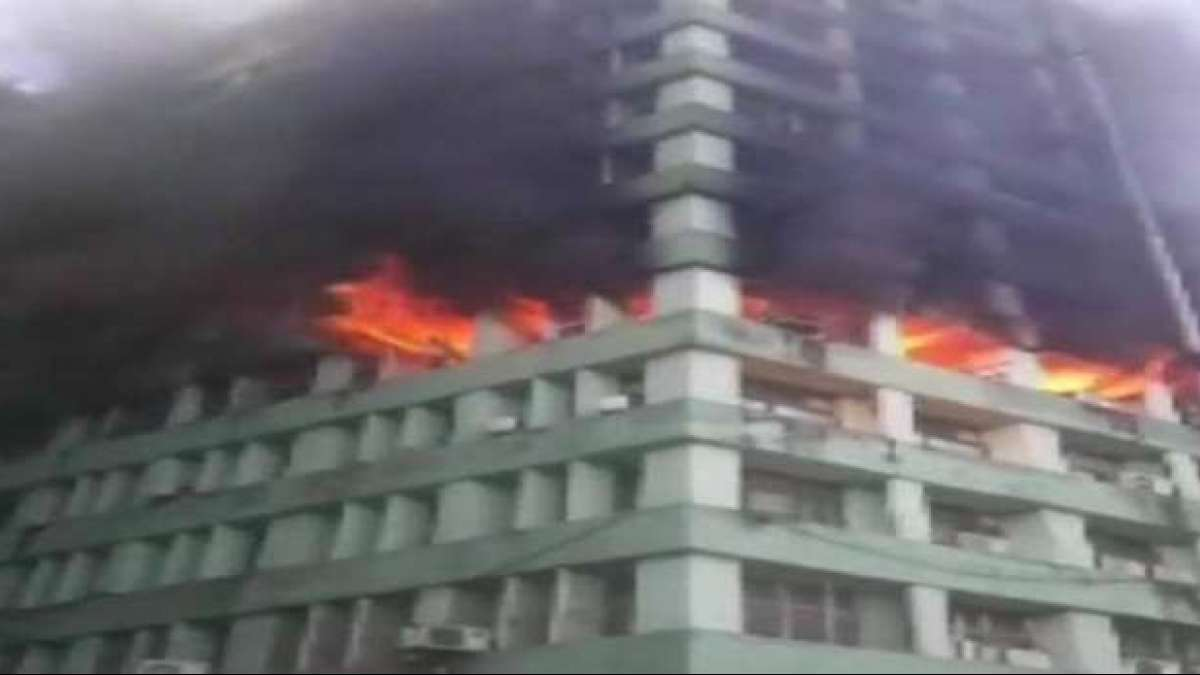 Fire broke out on the 5th floor of Pandit Deendayal Antyodaya Bhawan at CGO Complex in New Delhi