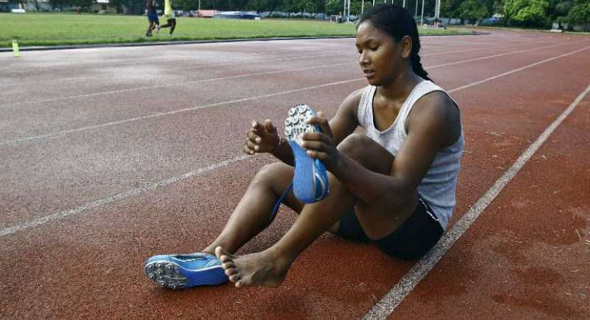 Swapna Barman gets customised shoes to fit her 12-toed feet