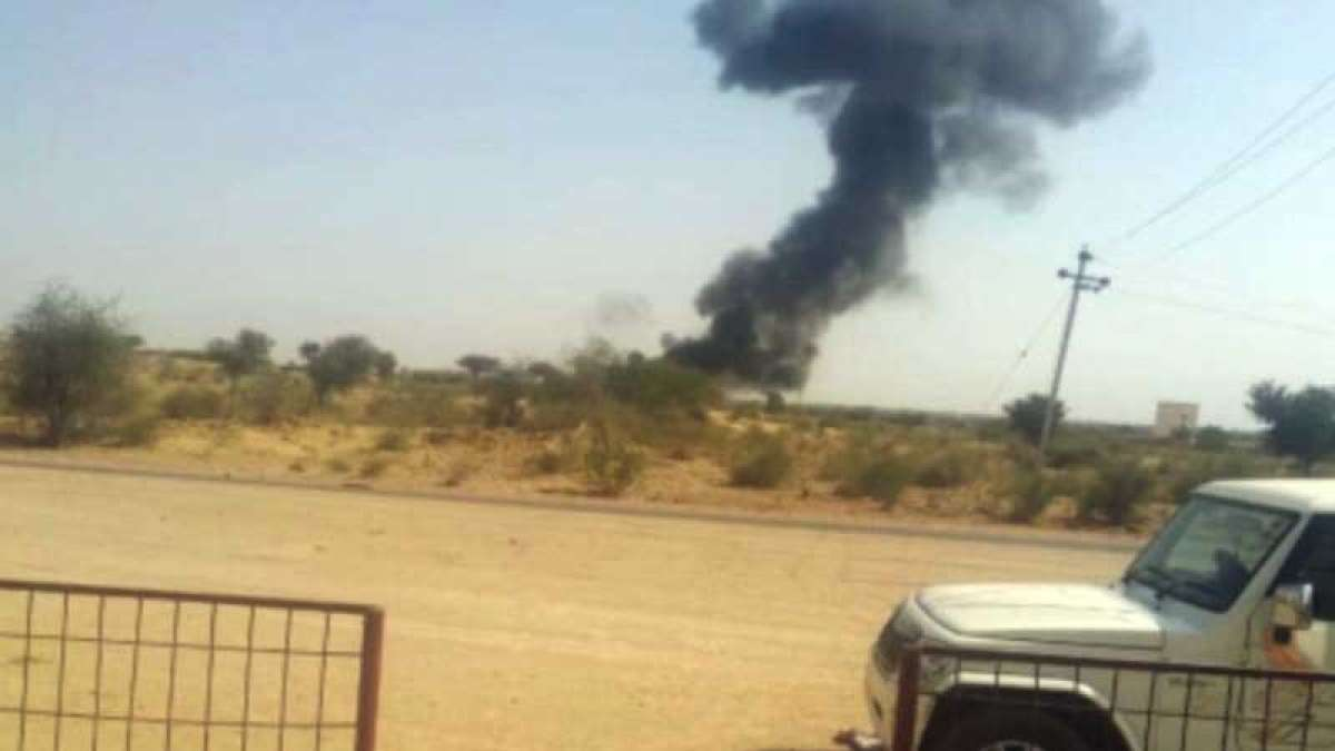 MiG 21 fighter jet crashes in Bikaner, fighter ejects safely