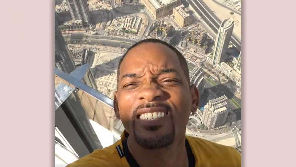 Screenshot from Will Smith's video from Burj Khalifa