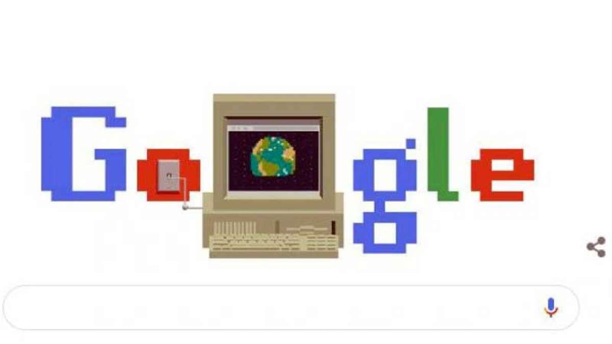 Google celebrates 30 years of World Wide Web (WWW) with a doodle