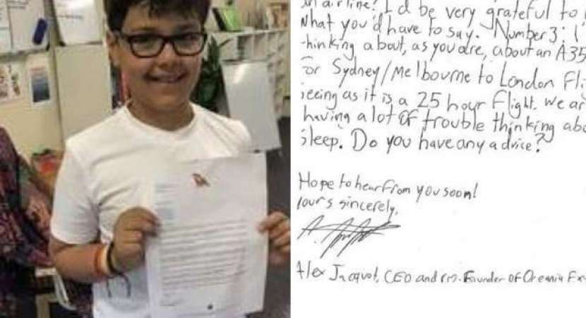 10-year-old-boy plans to start airline; writes letter to Qantas CEO