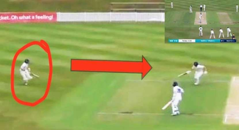 Watch: Batsman forgets he has a runner, ends up getting run out