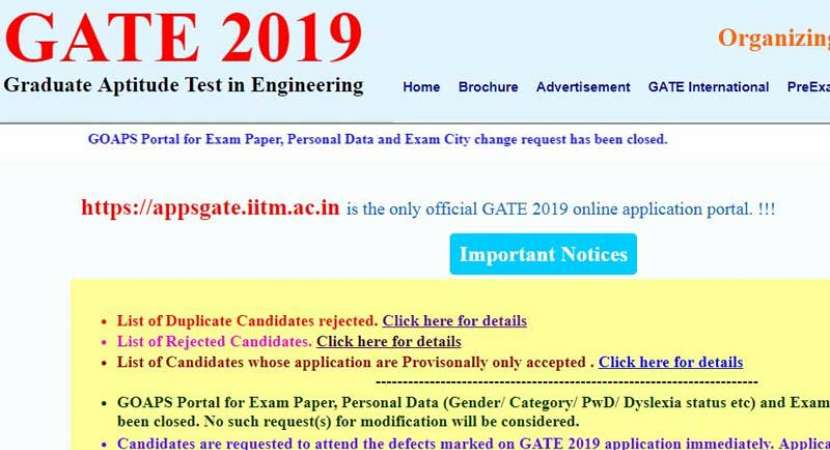 Gate 2019 Result Photo: IIT Madras Announces GATE 2019 Result At Gate.iitm.ac.in