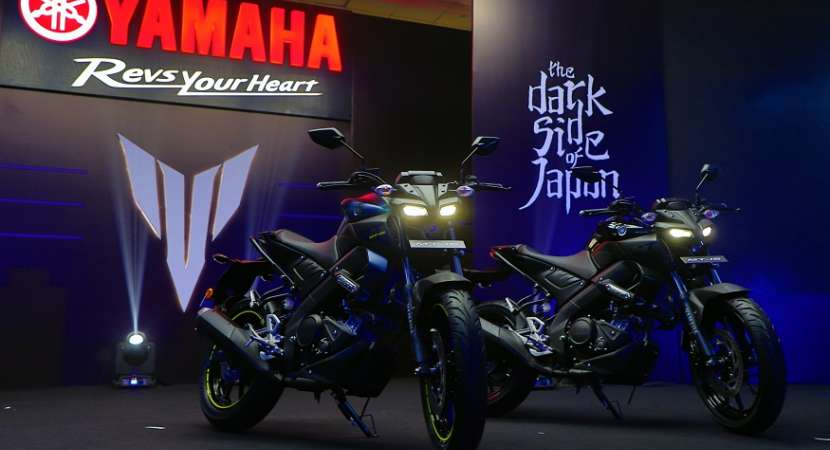Yamaha MT-15 is available in two colour options -metallic black and dark matt blue.